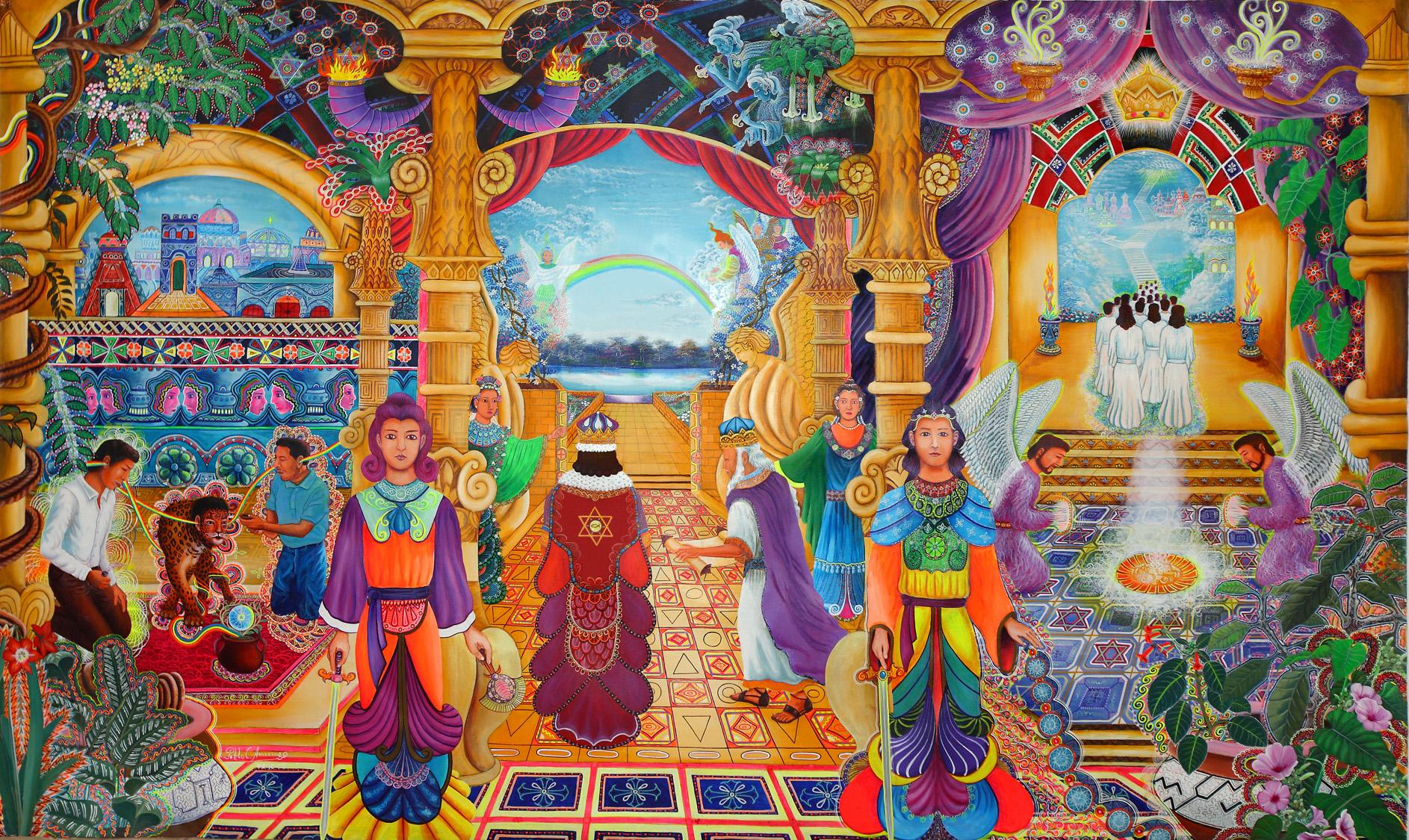 """Templo Sacrosanto"" by Pablo Amaringo"
